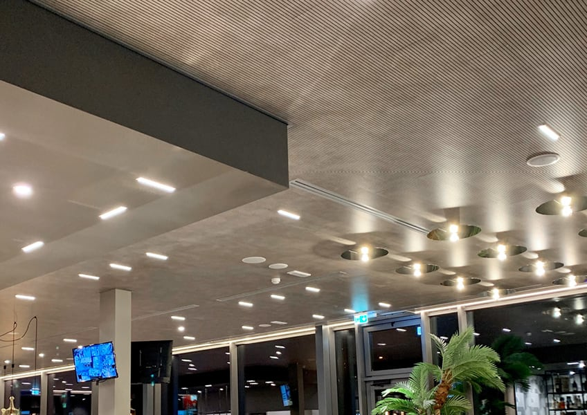 soffitto fonoassorbente akustika skema